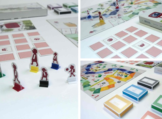 Solutions design et packaging : jeu de plateau « Shared Space » pour la commune de Bertrange